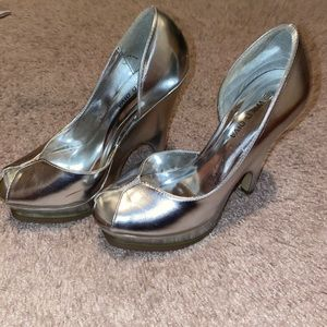 Silver Metallic High Heel